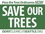 Save Seattle Trees yardsign logo